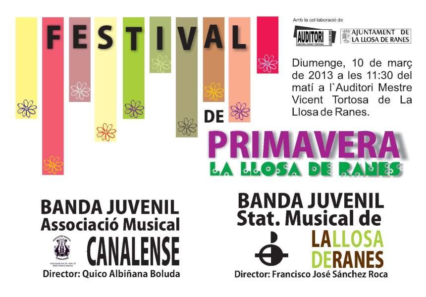 CARTELL DEL FESTIVAL DE primavera 2013