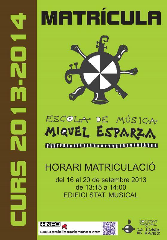 cartell matricula 2013-14
