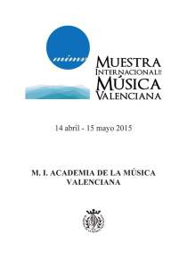 Folleto-mostra de musica valenciana