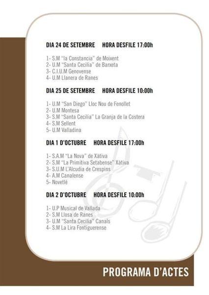 32É FESTIVAL DE BANDES DE LA COSTERA